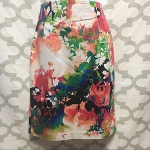 Worthington floral pencil skirt